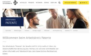 """Arbeitskreis """"Patente"""" der GI"""