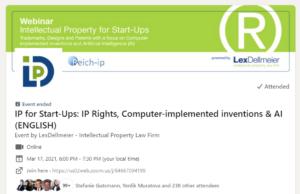 Vortrag: (Software) Patente für innovative Start-ups, auch auf KI